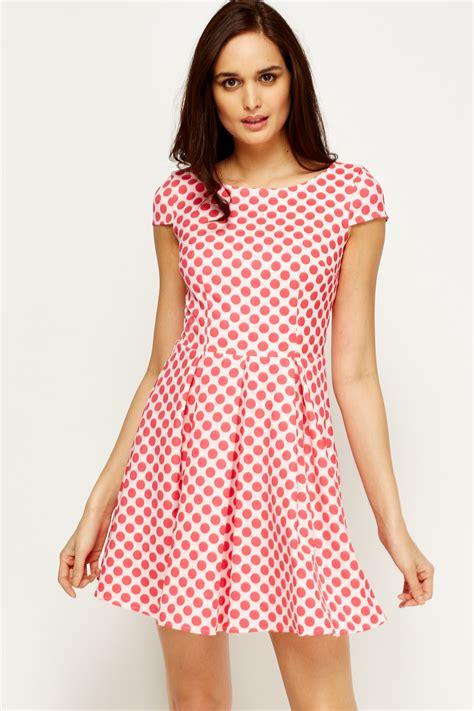 Dress Anak Polka Pink polka dot skater dress 3 colours just 163 5