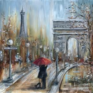 Duvet Cover What Is Paris Lovers Ii Painting By Marilyn Dunlap