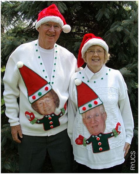 humorous old made christmas sweaters ugly ideas parties