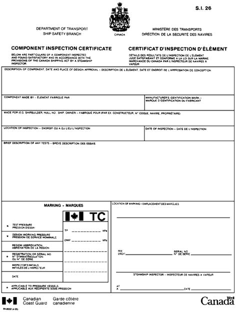 certificate of inspection template certificate of inspection template format for machinery