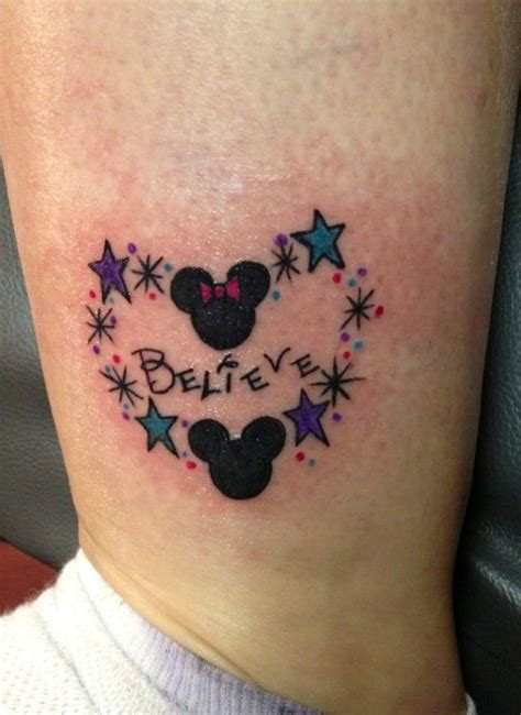 small believe tattoos believe mickey and minnie tattoos disney