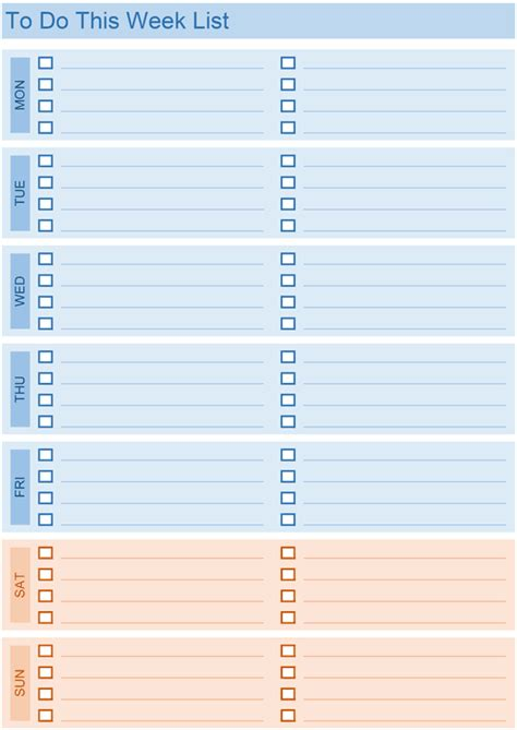weekly todo list template daily to do list templates for excel