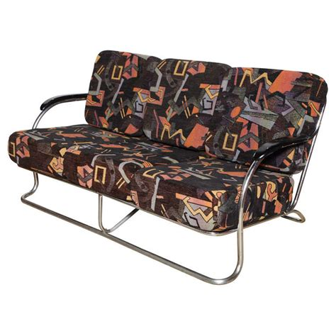 art deco sofa for sale art deco chrome sofa for sale at 1stdibs