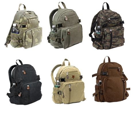 small backpack rothco canvas student travel hiking mini compact small school backpack ebay
