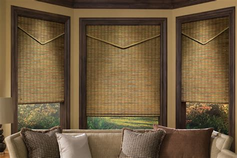 woven wood curtains wood window treatments interior design explained