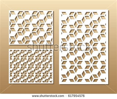 geometric pattern cutting laser cutting metal stock vectors images vector art
