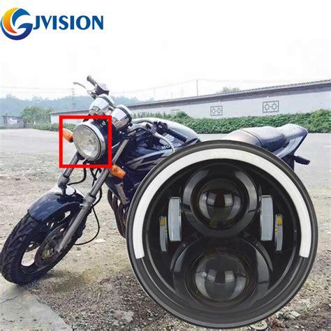 Lu Led Motor Cb motorcycle led headlight 7inch h4 headl drl for honda motor cb400 cb500 cb1300 hornet