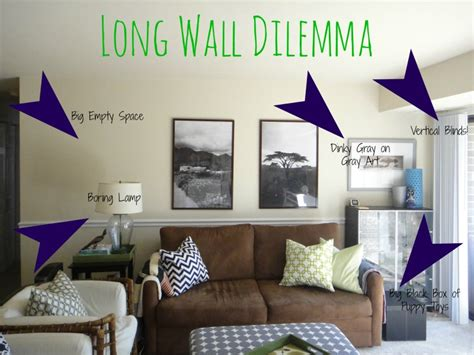 Long Wall Decoration Living Room | design dilemma this sarah loves