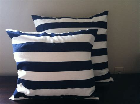 Navy White Pillow by Navy And White Stripe Pillow Cover