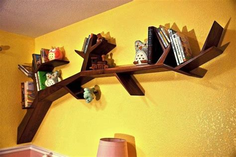 tree shaped bookshelves build a tree shaped bookshelf diy projects for everyone