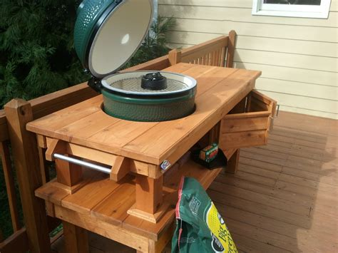 custom big green egg table cedar custom woodworks by chad