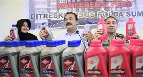 Botol Oli Sing F1zr Polda Sumbar Ungkap Peredaran Pelumas Federal Palsu