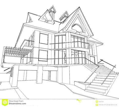 wonderful architecture house drawing with pencils goodhomez