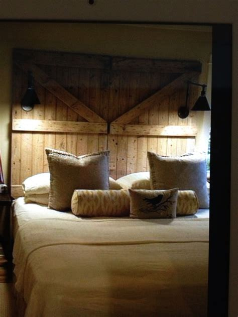 barn door headboard barn door headboard for the home