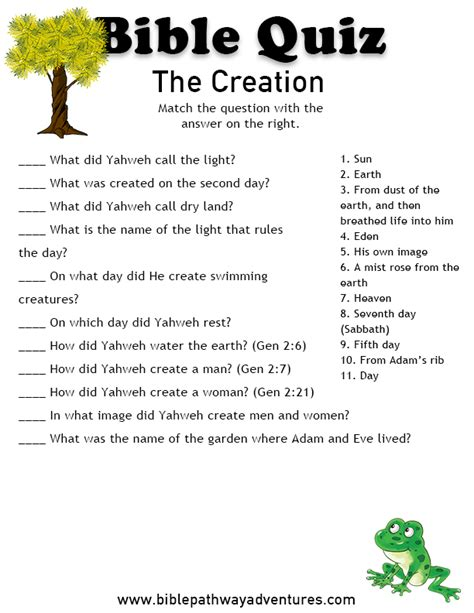 free bible quiz for kids the creation libro para ni 241 os cristo y belenes