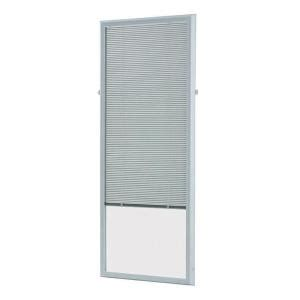 Patio Door Blinds At Home Depot by Odl White Cordless Add On Enclosed Aluminum Blinds With 1