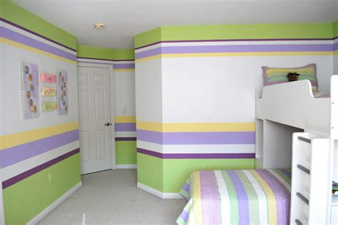 horizontal striped bedroom walls horizontal stripes traditional kids other metro by natalie cannon painting