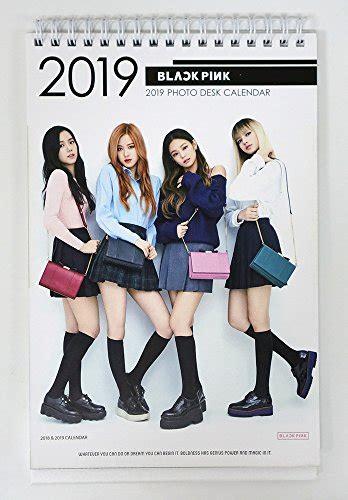 2018 Photo Desk Calender Wanna One black pink 2018 2019 photo desk calendar syndicasian