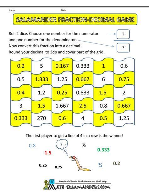 printable fraction dice 20 best fractions decimals images on pinterest math