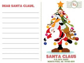 Christmas Letter To Santa Template Xmas Coloring Pages