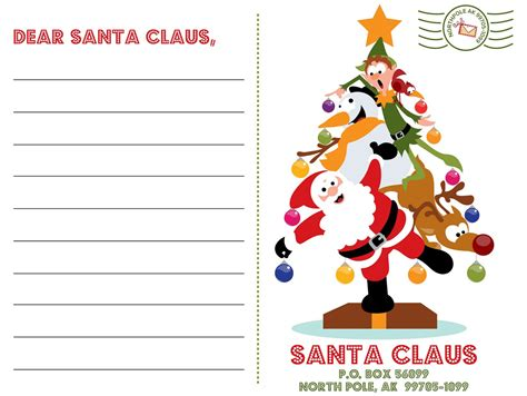 letter to santa free printable xmas coloring pages