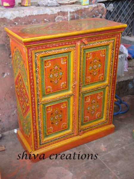 hand painted indian cabinets traditional hand painted from jodhpur indian