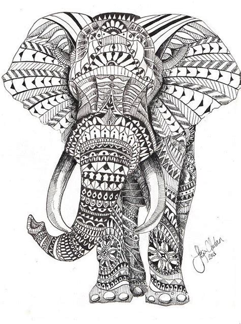 coloring pages for adults of elephants elephant mandala skin art pinterest