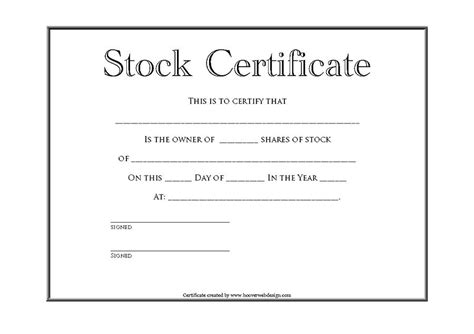 stock certificate template pdf 40 free stock certificate templates word pdf
