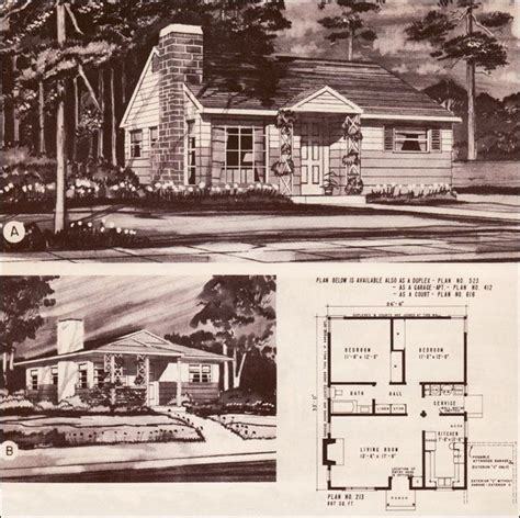 1940s house plans 1940 s style home plans 1948 hiawatha estes plans no 213 houses pinterest the o jays