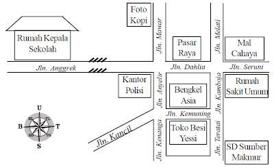 bahasa indonesia kelas iv membuat gambar  denah bisa