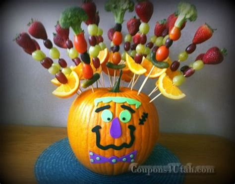 halloween themes for clubs halloween party ideas pumpkin with fruit or vegetable