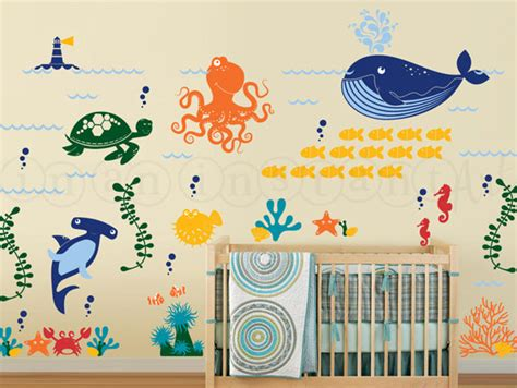 Ocean Friends Wall Decal Under The Sea Wall Decal Octopus The Sea Wall Decals Nursery