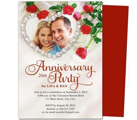 Heart Frame Anniversary Invitation Template   25th & 50th