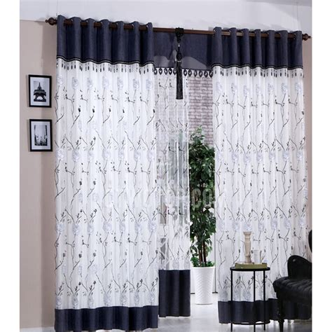 white and blue curtains for bedroom curtain marvellous blue and white curtains custom