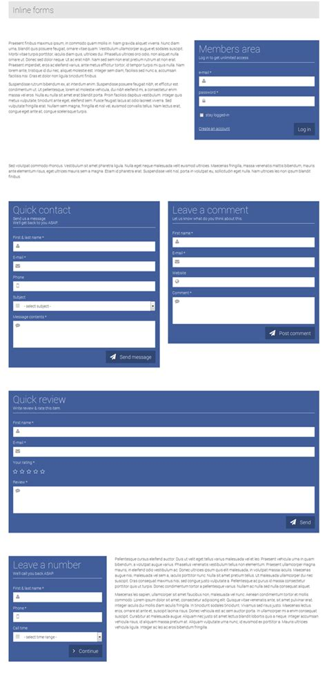 responsive form template responsive form template inline floating by