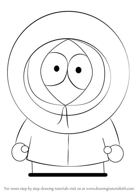 How To Draw Kenny From South Park Step By Step learn how to draw kenny mccormick from south park south
