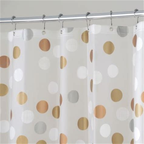 white silver shower curtain buy white silver shower curtain from bed bath beyond