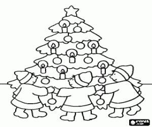 juegos de 193 rboles de navidad para colorear imprimir y