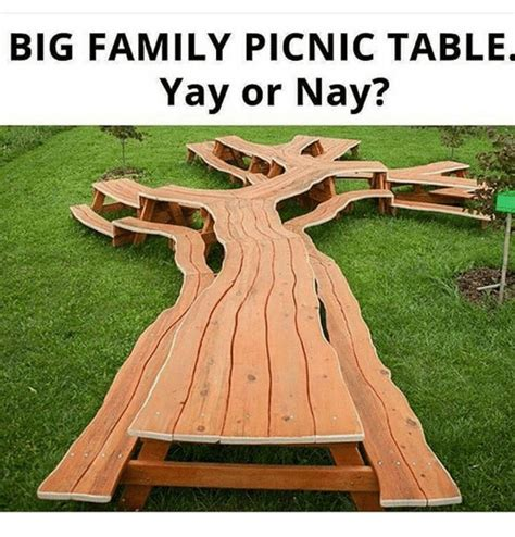 Yay Or Nay Wednesday 29 by Big Family Picnic Table Yay Or Nay Meme On Sizzle
