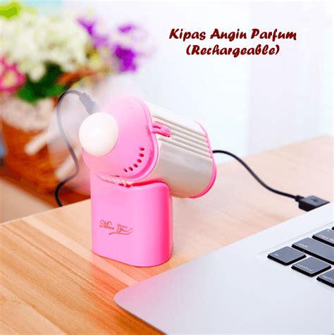 Pendingin Udara Mini Tempat Parfum kipas angin parfum rechargeable mini ukurannya mantap