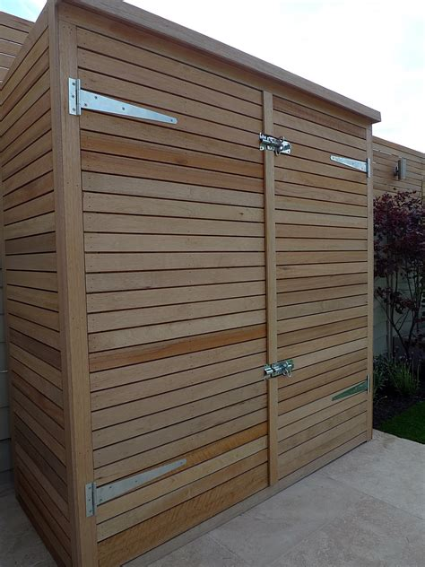 bespoke hardwood storage bike store garden shed dulwich