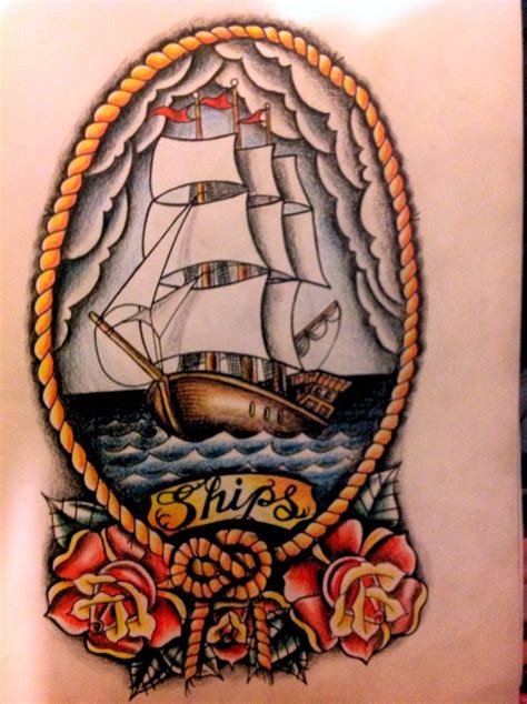 old school ship tattoo designs ships by 76bev on deviantart