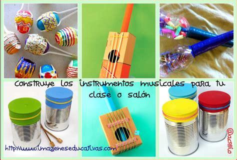 proyecto de instrumentos musicales con material reciclado en primaria instrumentos musicales materiales reciclados collage