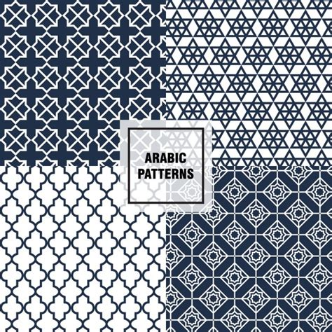 arabic pattern ai polygonal arabic patterns vector free download