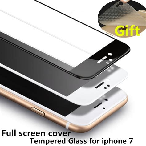 cover screen protector tempered glass for iphone 7