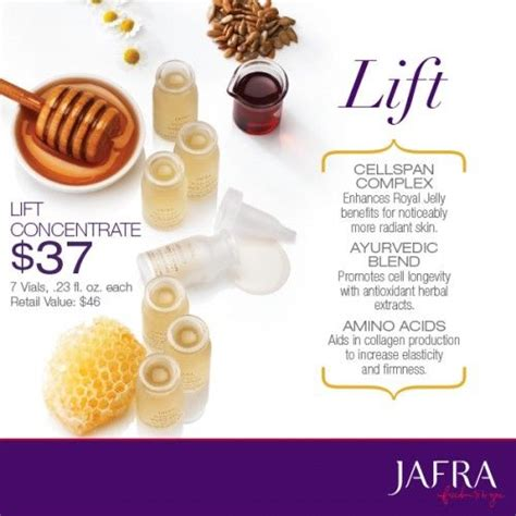 Jafra Royal Jelly Lift Concentrate 1 Vial 7 Ml 1000 images about jafra in vt on royal jelly regional and your skin