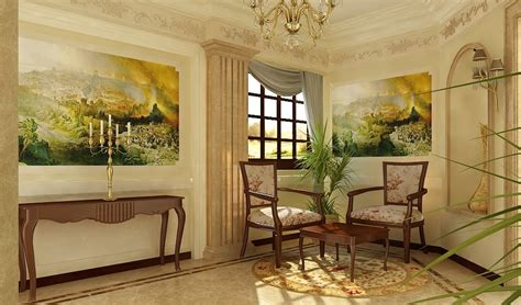 home internal decoration classic interior design