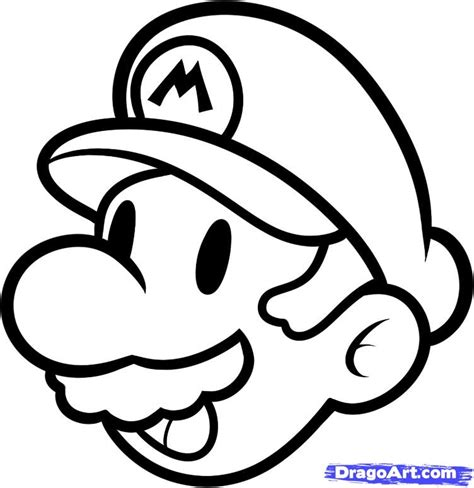easy mario coloring pages how to draw mario easy step by step video game