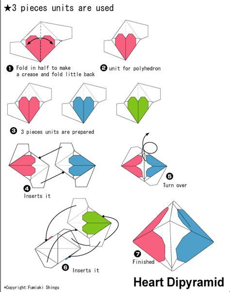 Origami Hearts Easy - origami dipyramid easy origami