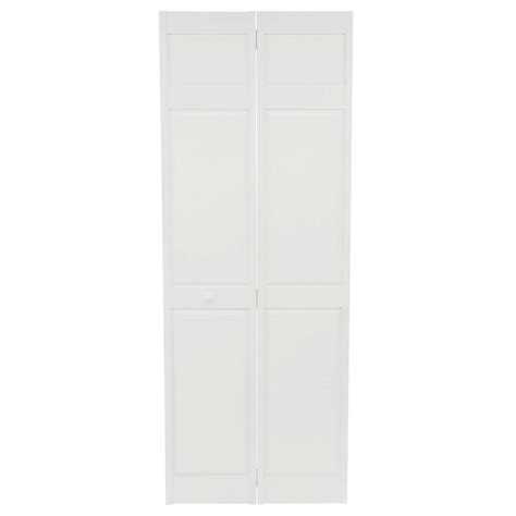 Home Fashion Technologies 30 In X 80 In 6 Panel Primed 6 Panel Bifold Closet Doors